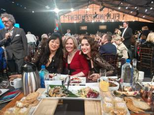 These three ladies all nominated for Best First Screenplay