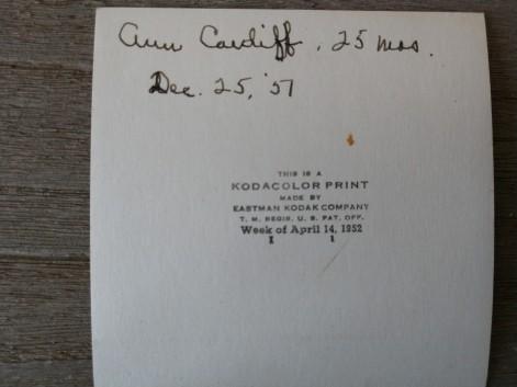 Ann Caudiff (?), 25 mos, Dec 25, '51